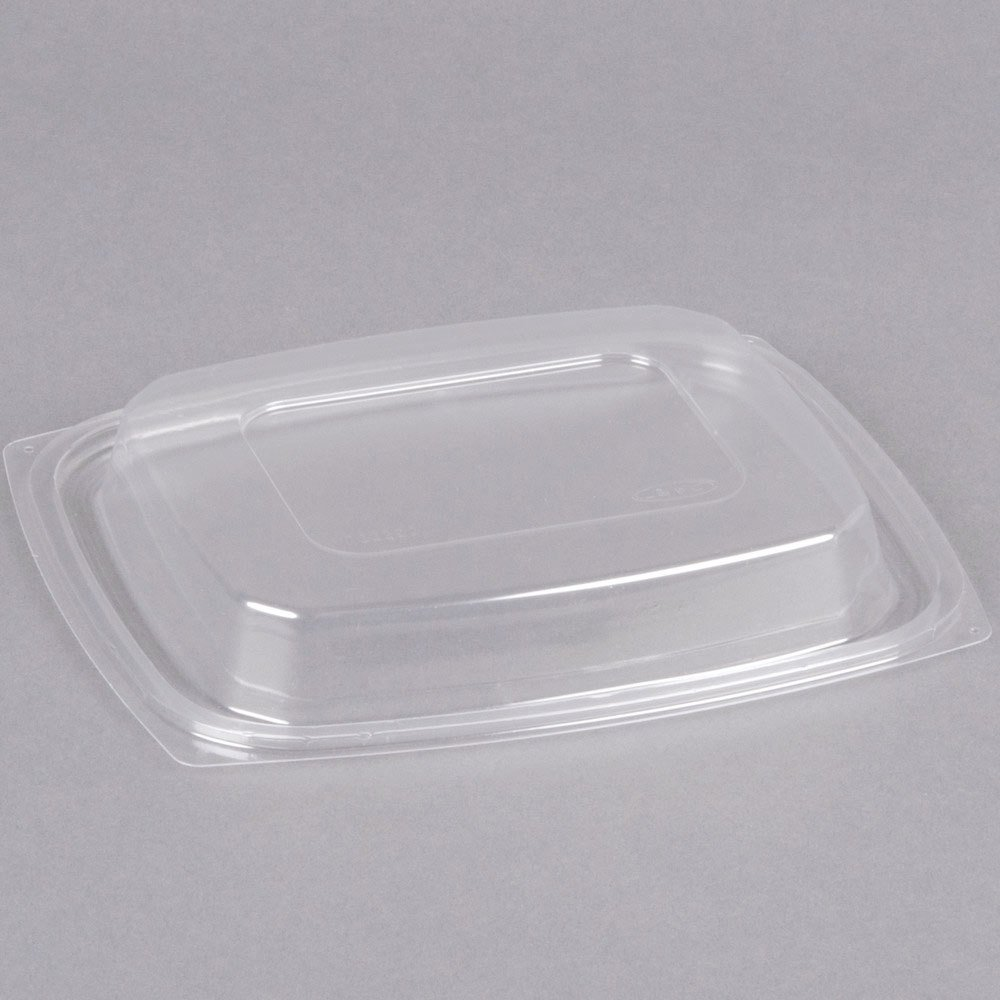 Dart C32DDLR ClearPack Clear Snap-On Dome Lid for 24 and 32 oz. Plastic Containers - 63/Pack