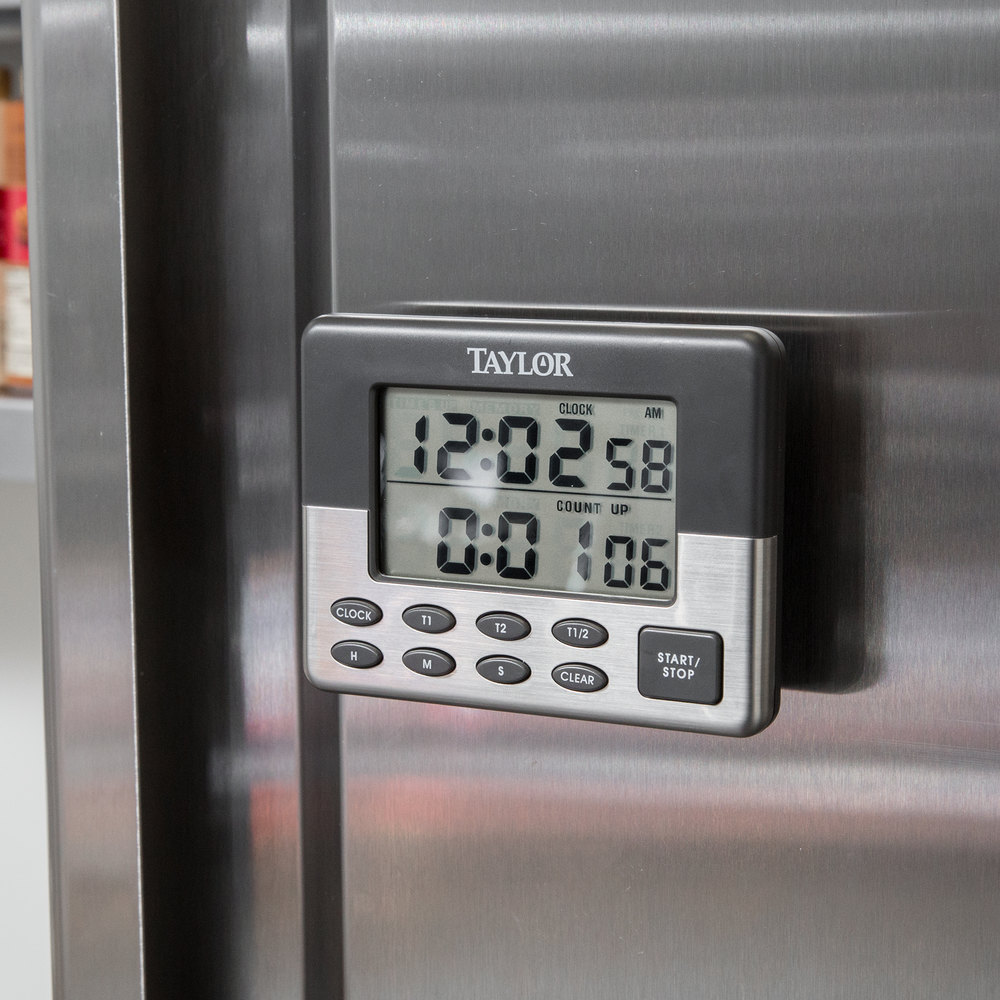 5872-9 jumbo digital dual event kitchen timer with memory and clock
