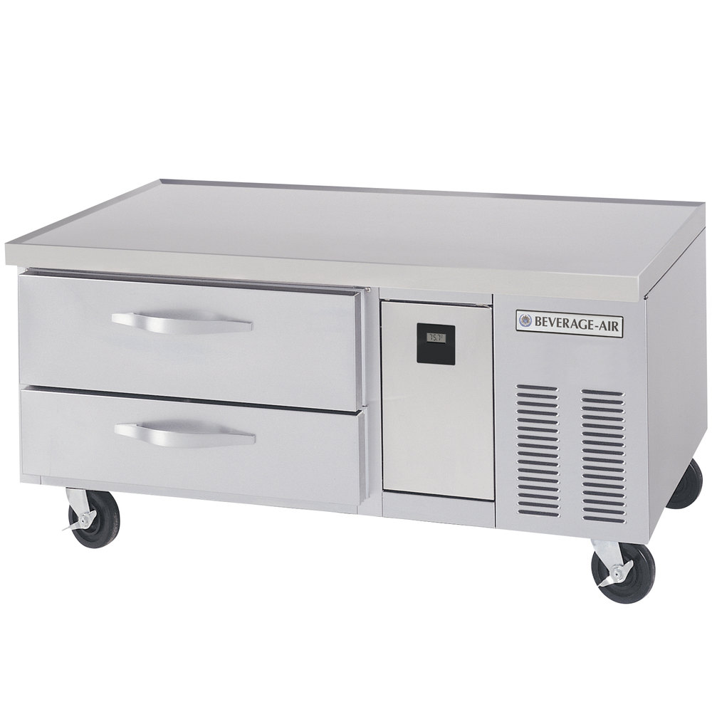"Beverage-Air WTRCS52-1 52"" Two Drawer Refrigerated Chef Base - 9.7 cu. ft."