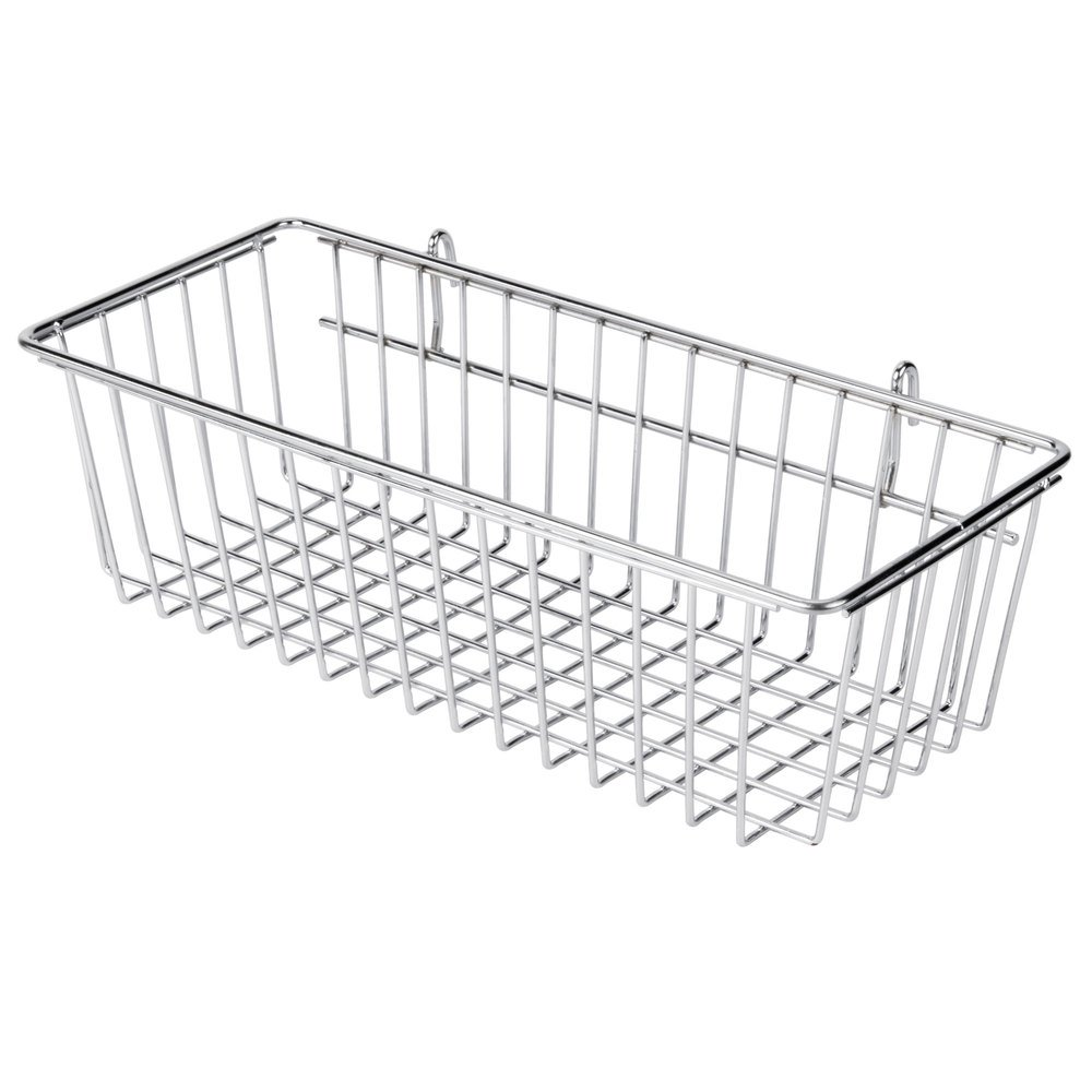 regency chrome storage basket for wire shelving 17 3 8