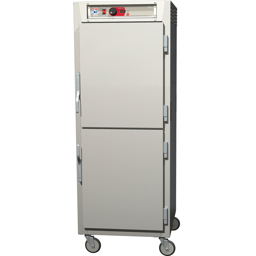 Metro C589-SDS-LPDC C5 8 Series Reach-In Pass-Through Heated Holding Cabinet - Clear Dutch / Solid Dutch Doors