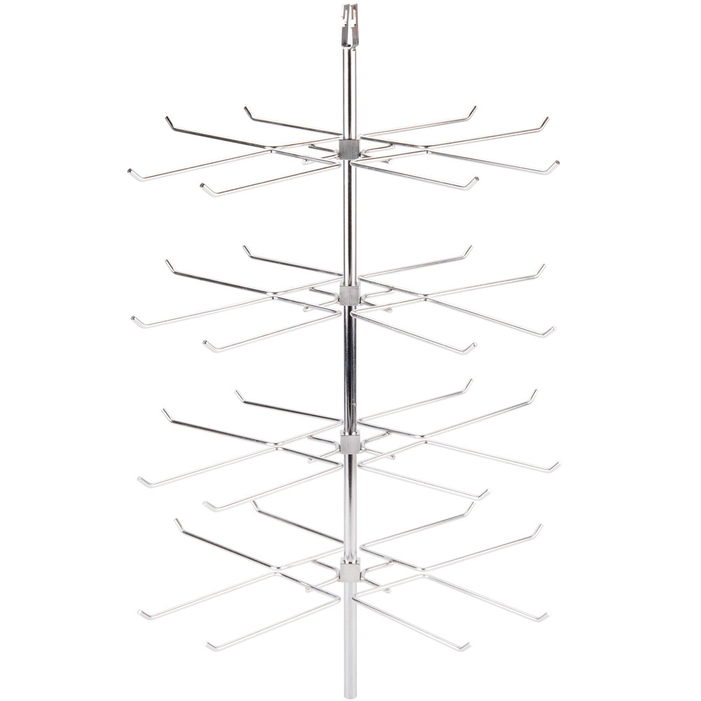 Star 4P-3A Complete 4 Tier Double Prong Pretzel Rack for HFD3 Humidified Display Cases - 112 Pretzels