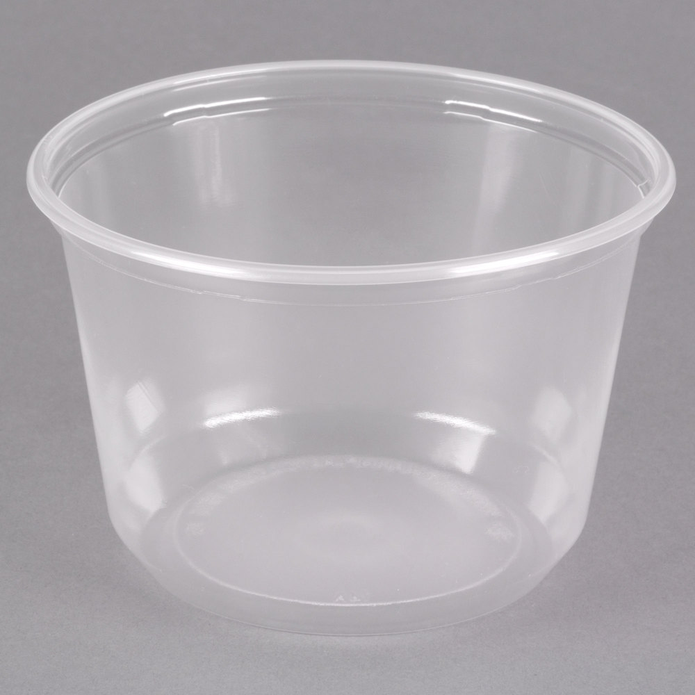 Choice 16 oz. Customizable Microwavable Contact Clear