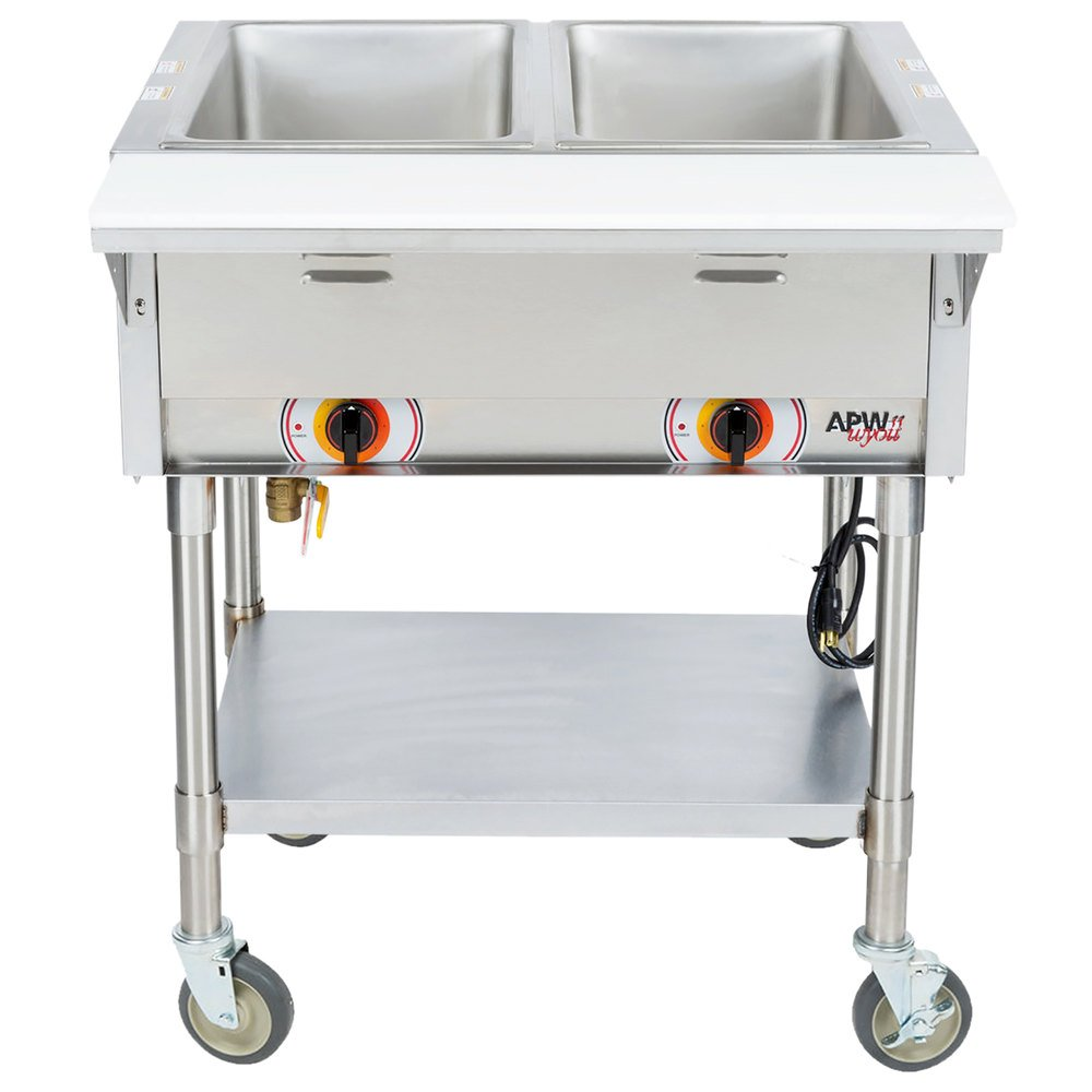 Portable Table Steamer Nokia Universal Portable Usb Charger Dc 16 Portable Charger Virgin Atlantic Portable Kitchen Island Bench Perth: APW Wyott PST-2S Two Pan Exposed Portable Steam Table With