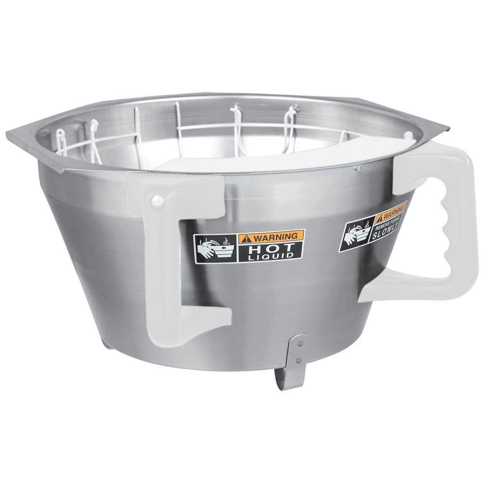 Bunn 39358.1002 Stainless Steel Funnel With Decals for Single and Dual Titan Coffee Brewers
