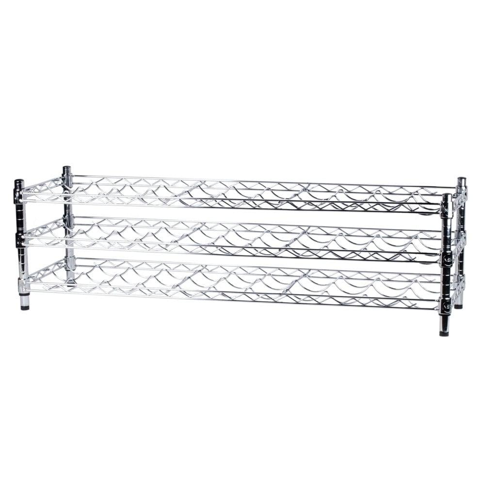 Regency 14 inch x 48 inch 3 Shelf Wire Wine Rack with 14 inch Posts