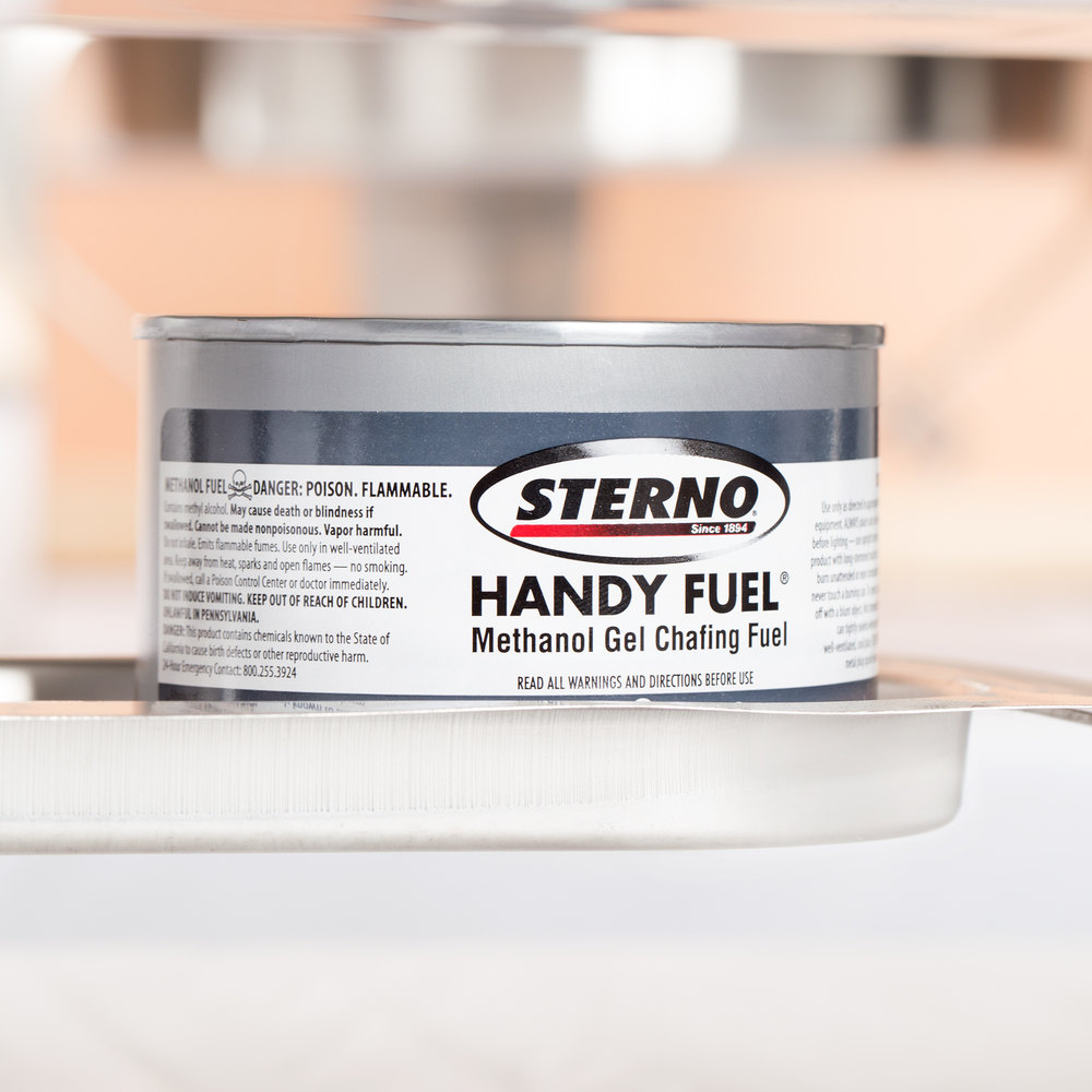 Sterno Products 20102 2 Hour Handy Fuel Methanol Gel Chafing Fuel - 72/Case
