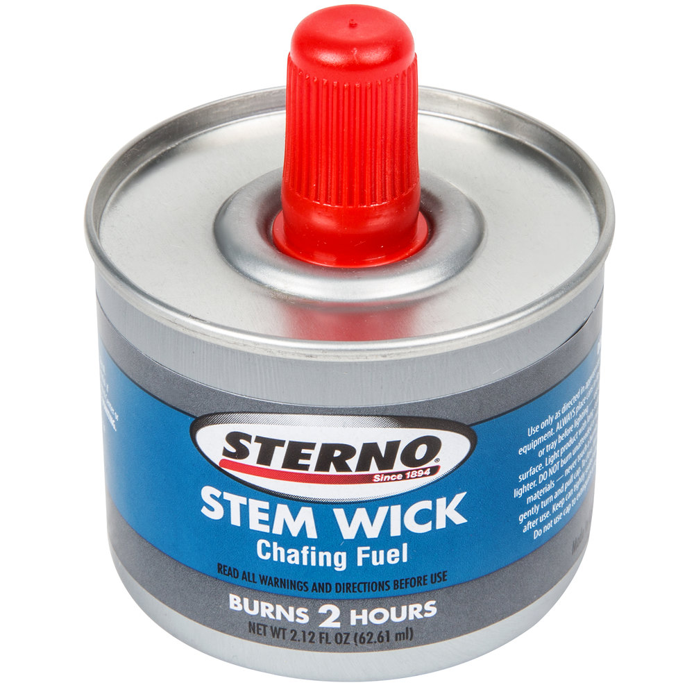 Sterno Products 10100 2 Hour Stem Wick Chafing Fuel 24 Case