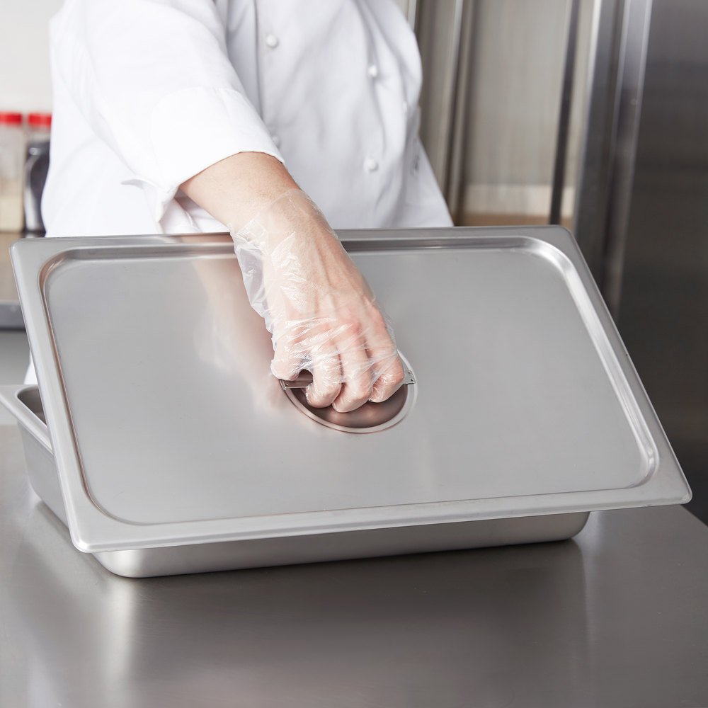 Choice Full Size Stainless Steel Solid Steam Table / Hotel Pan Cover