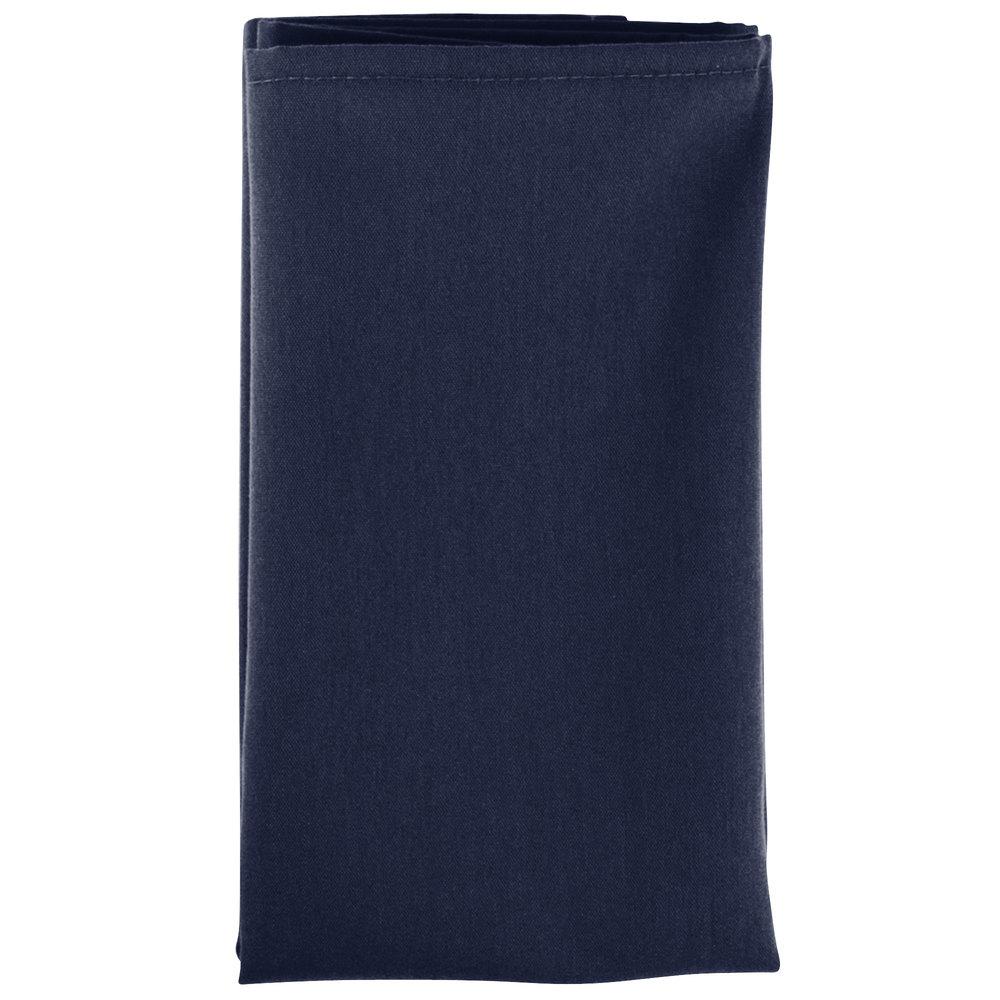 18 u0026quot  x 18 u0026quot  navy blue hemmed polyspun cloth napkin  pack