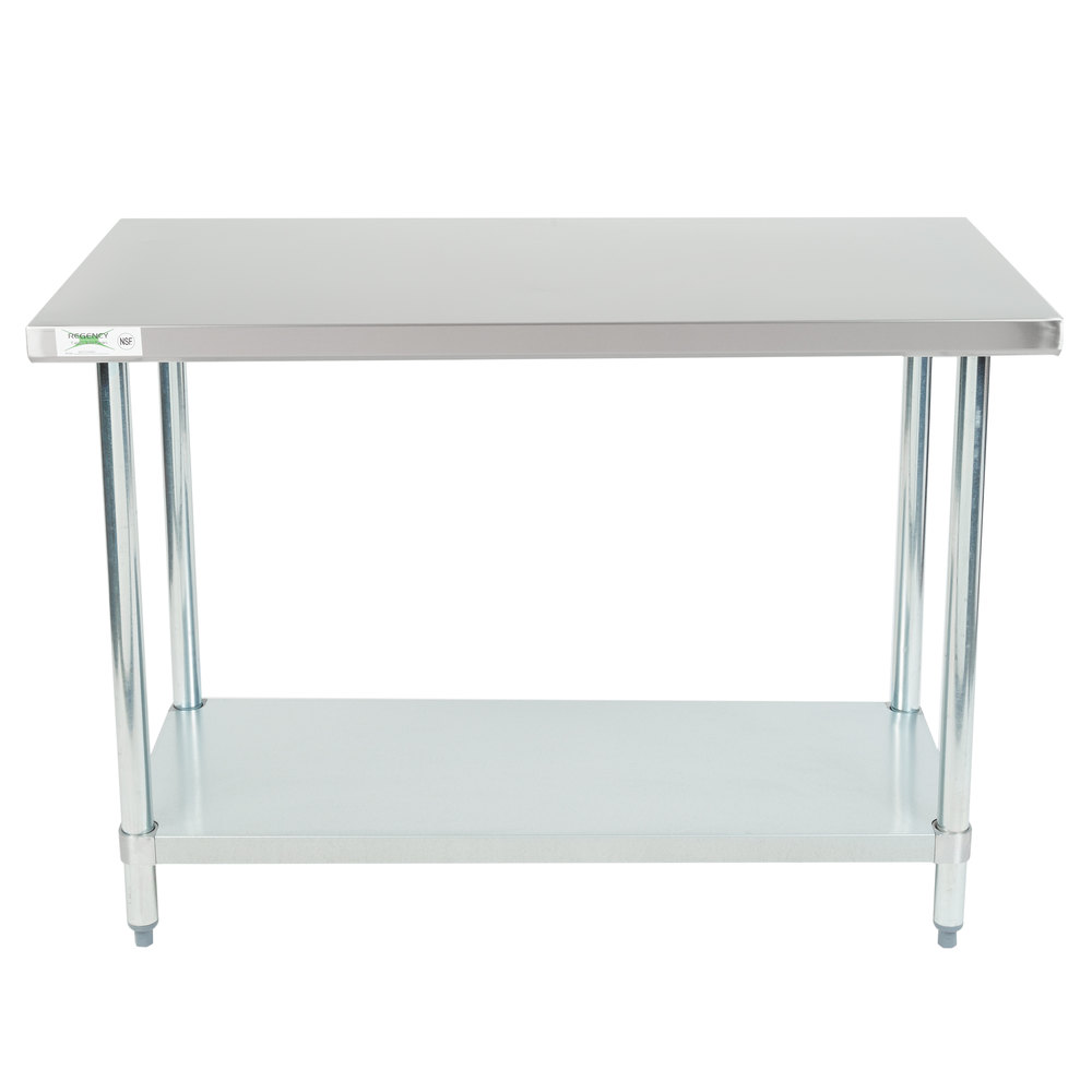 Design Stainless Steel Tables regency 24 x 48 18 gauge 304 stainless steel commercial work table with main picture