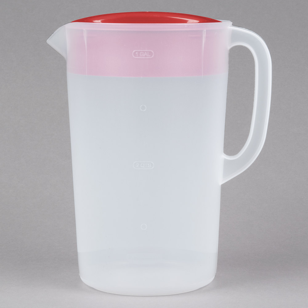 Rubbermaid 1978082 1 Gallon Plastic Pitcher with Lid