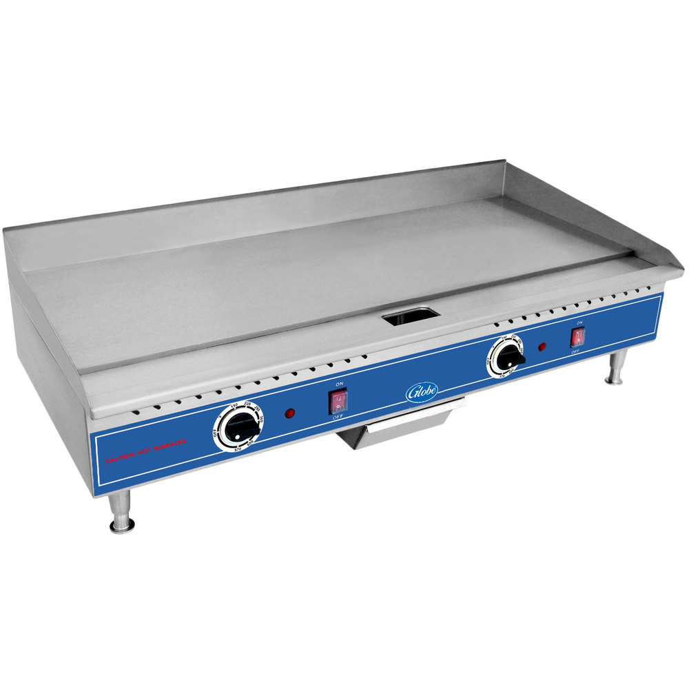"Globe PG36E 36"" Electric Countertop Griddle - 5400W"