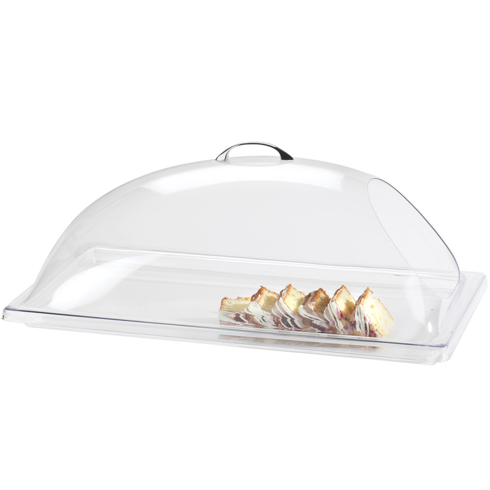 "Cal-Mil 322-12 Classic Clear Dome Display Cover with Single End Opening - 12"" x 20"" x 7 1/2"""