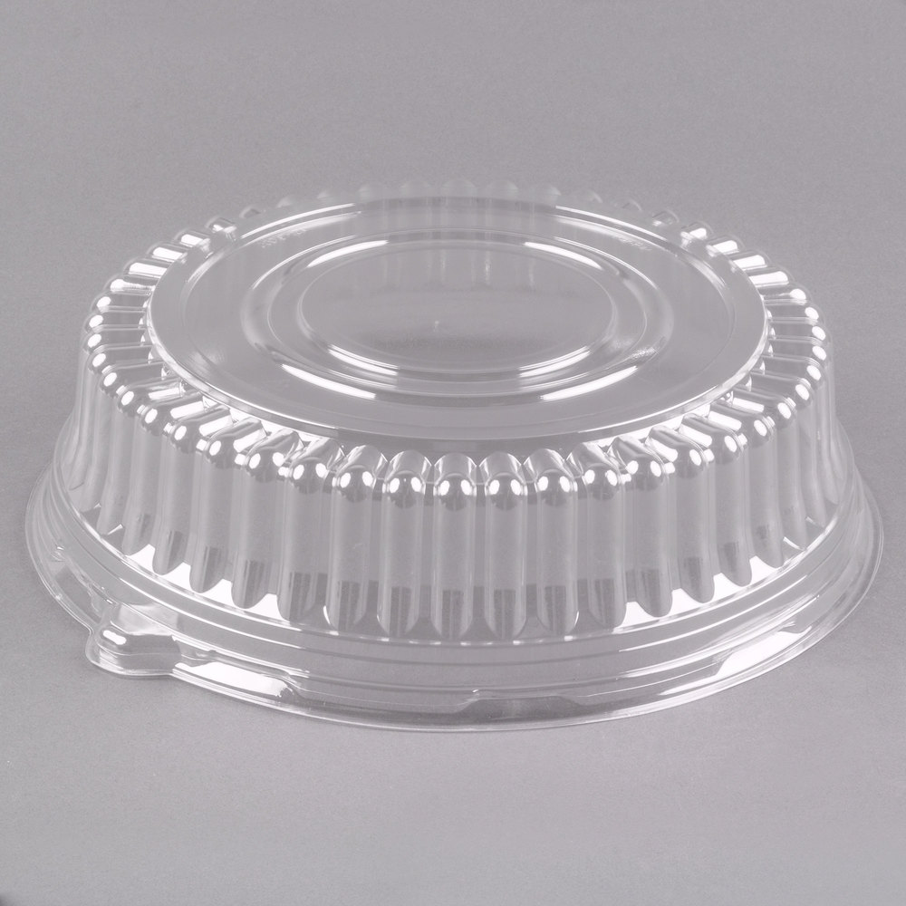 Visions 12 Quot Clear Pet Plastic Round Catering Tray High