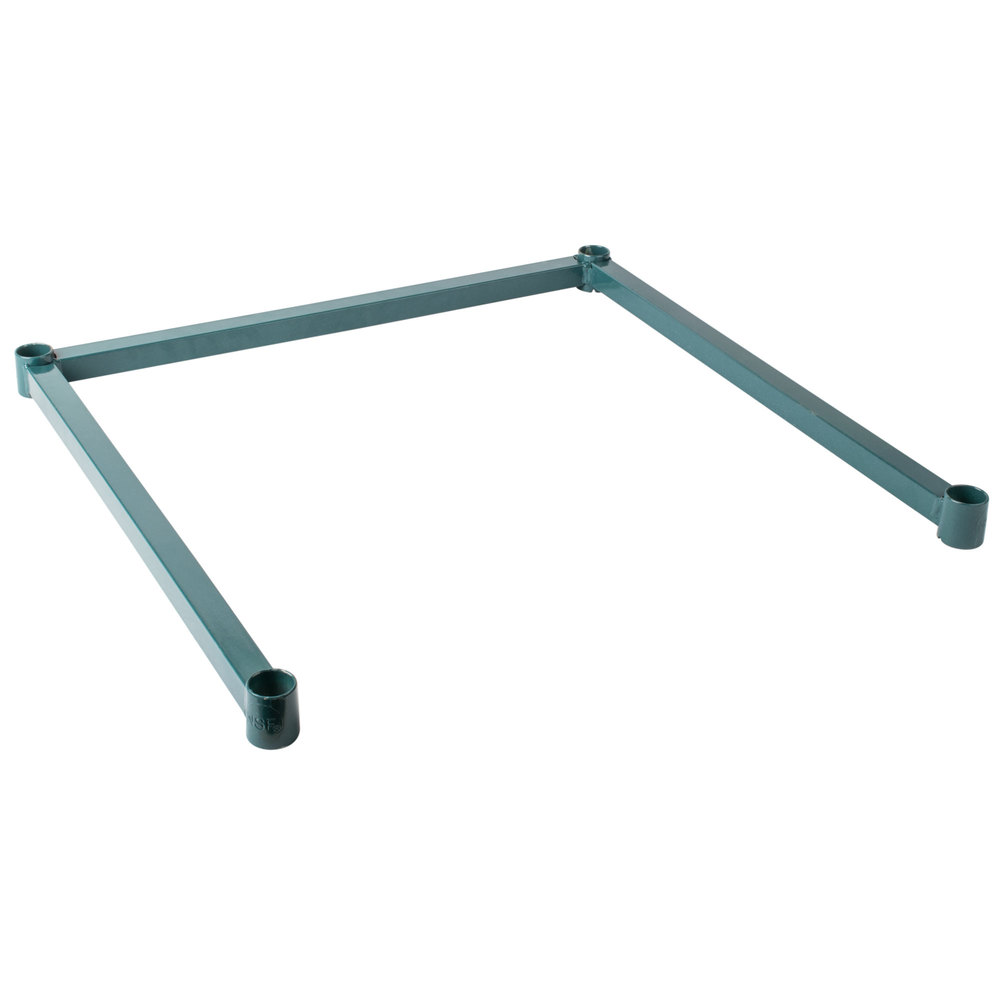 Regency Three-Sided Green Epoxy 24 inch x 24 inch Frame for Wire Shelving