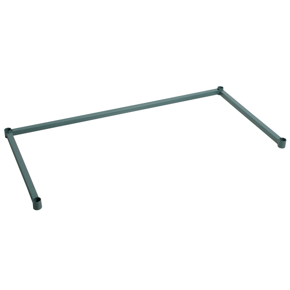 Regency Three-Sided Green Epoxy 24 inch x 48 inch Frame for Wire Shelving