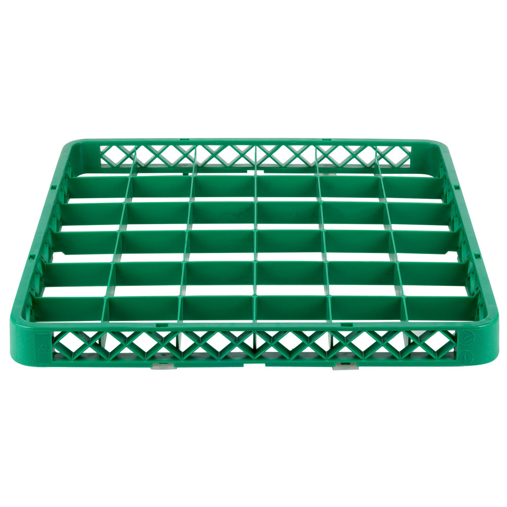 Noble Products 36 Compartment Green Full Size Glass Rack