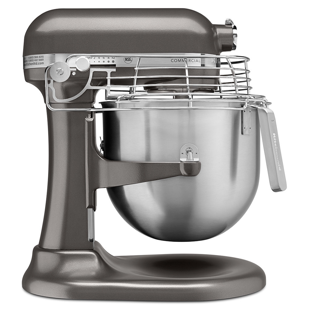 Holiday Prep With Kitchenaid Black Stainless Steel: KitchenAid KSMC895DP Dark Pewter NSF 8 Qt. Bowl Lift Commercial Stand Mixer With Stainless Steel