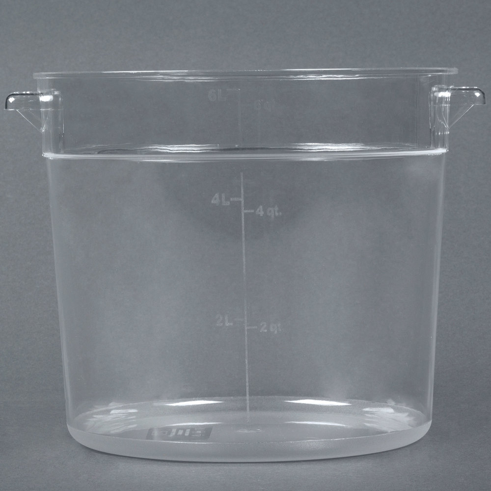 6 qt clear round food storage container. Black Bedroom Furniture Sets. Home Design Ideas