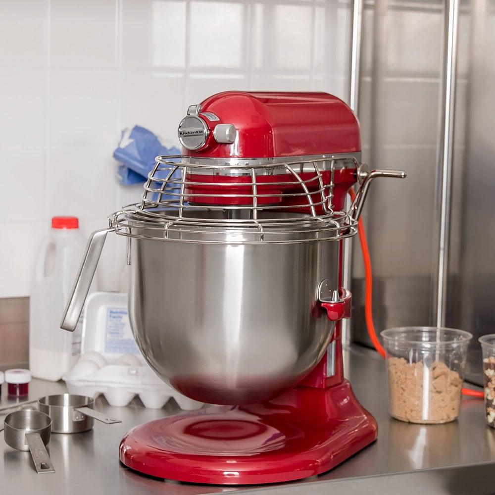 Red Kitchenaid 8 Qt Commercial Mixer Bowl Guard Ksmc895er Webstaurantstore