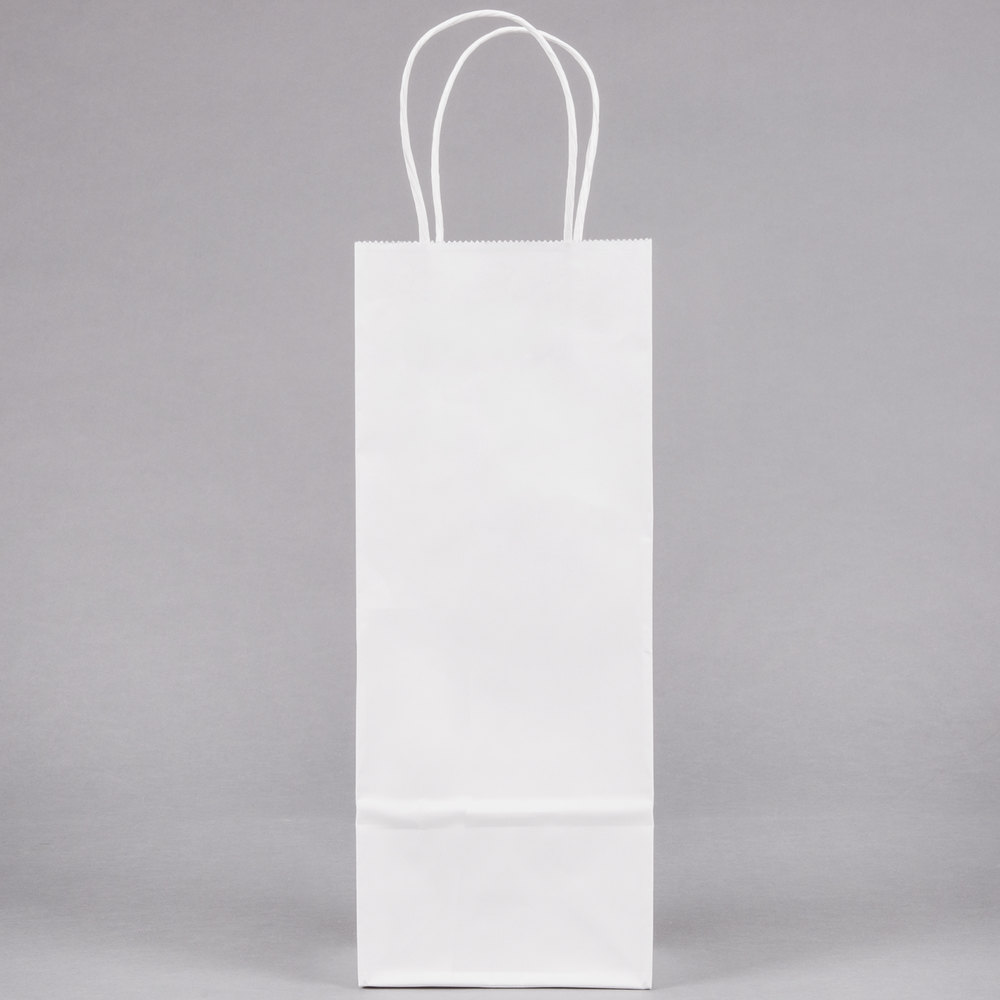 Duro Vino White Paper Wine Shopping Bag With Handles 5 Quot X