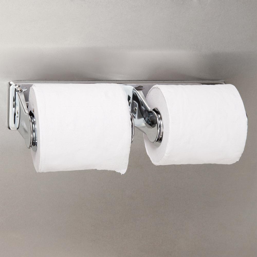 bobrick b265 vandal resistant multi roll toilet tissue dispenser with bright polish finish