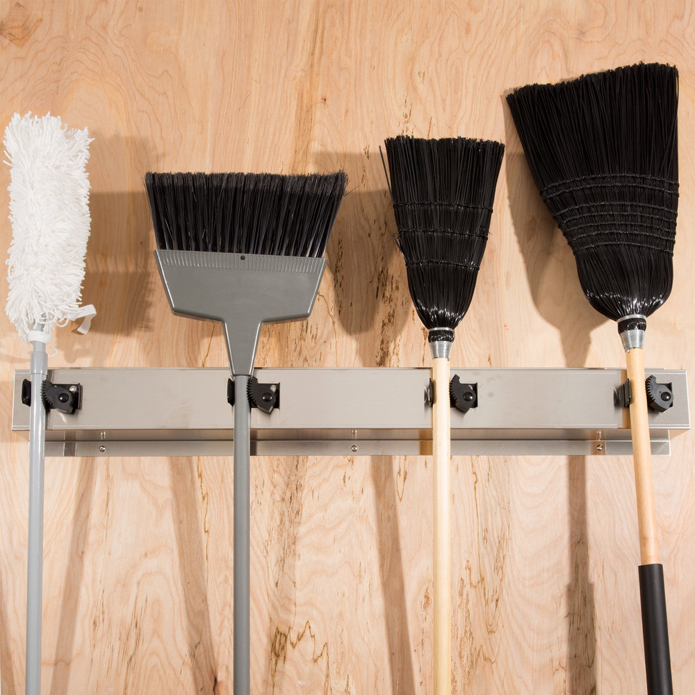 Bobrick B 223 36 Quot Stainless Steel Mop Broom Rack With 4