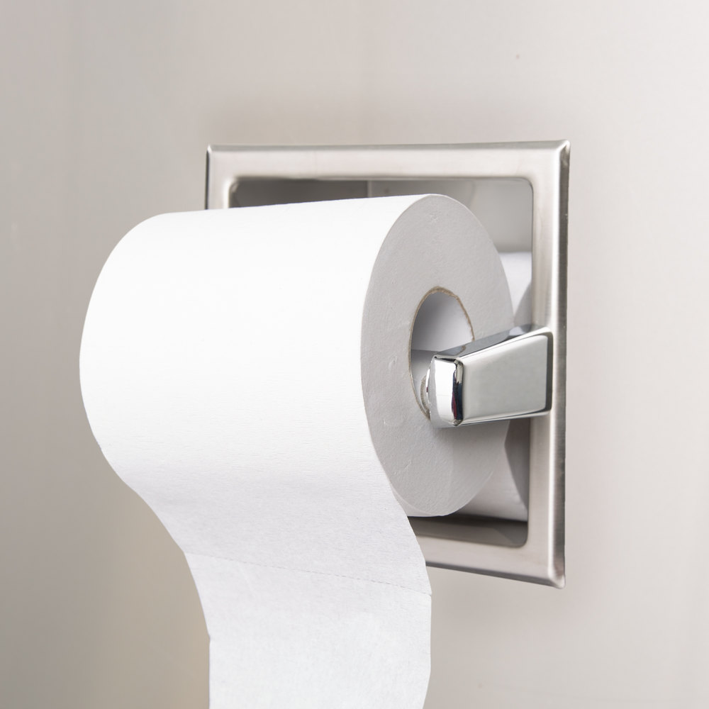 Bobrick B 6637 Recessed Toilet Tissue Dispenser With