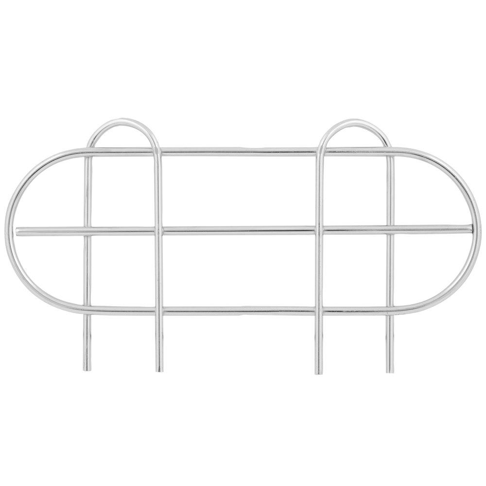 Regency 14 inch Chrome Wire Shelf Ledge for Wire Shelving - 11 1/2 inch x 4 inch