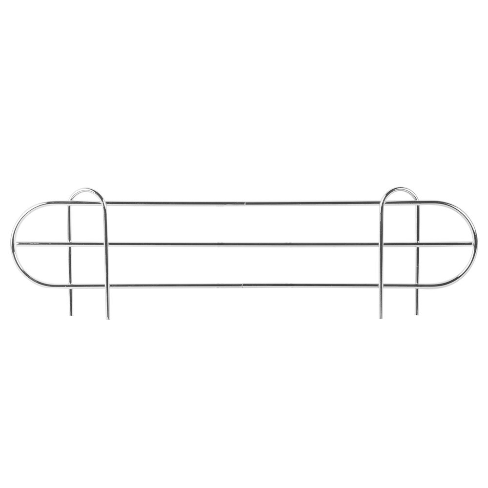 Regency 22 inch Chrome Wire Shelf Ledge for Wire Shelving - 22 inch x 4 inch