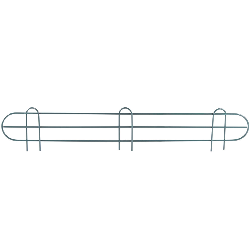 Regency 36 inch Green Epoxy Wire Shelf Ledge for Wire Shelving - 36 inch x 4 inch