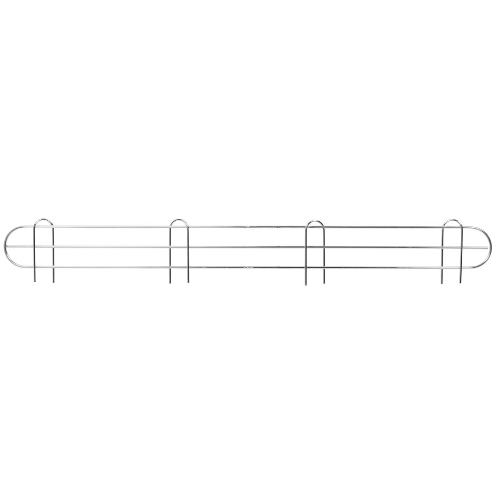 Regency 48 inch Chrome Wire Shelf Ledge for Wire Shelving - 48 inch x 4 inch