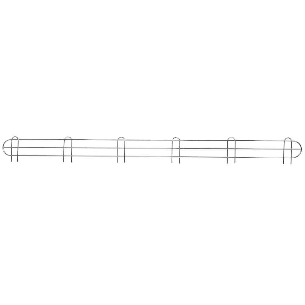 Regency 72 inch Chrome Wire Shelf Ledge for Wire Shelving - 72 inch x 4 inch