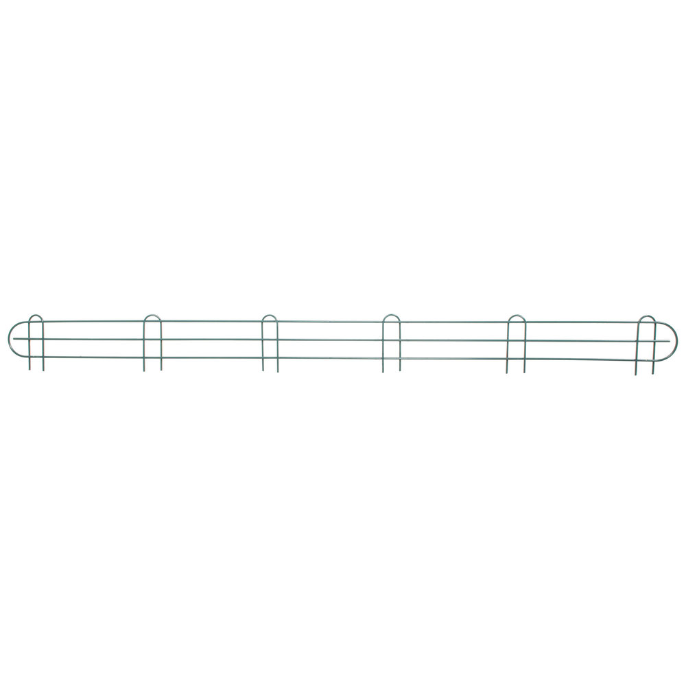 Regency 72 inch Green Epoxy Wire Shelf Ledge for Wire Shelving - 72 inch x 4 inch