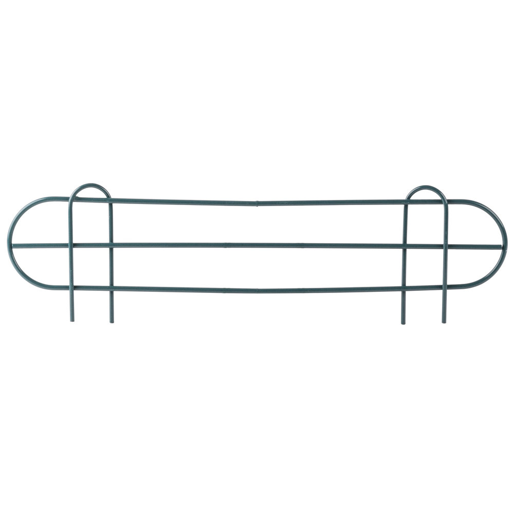 Regency 22 inch Green Epoxy Wire Shelf Ledge for Wire Shelving - 22 inch x 4 inch