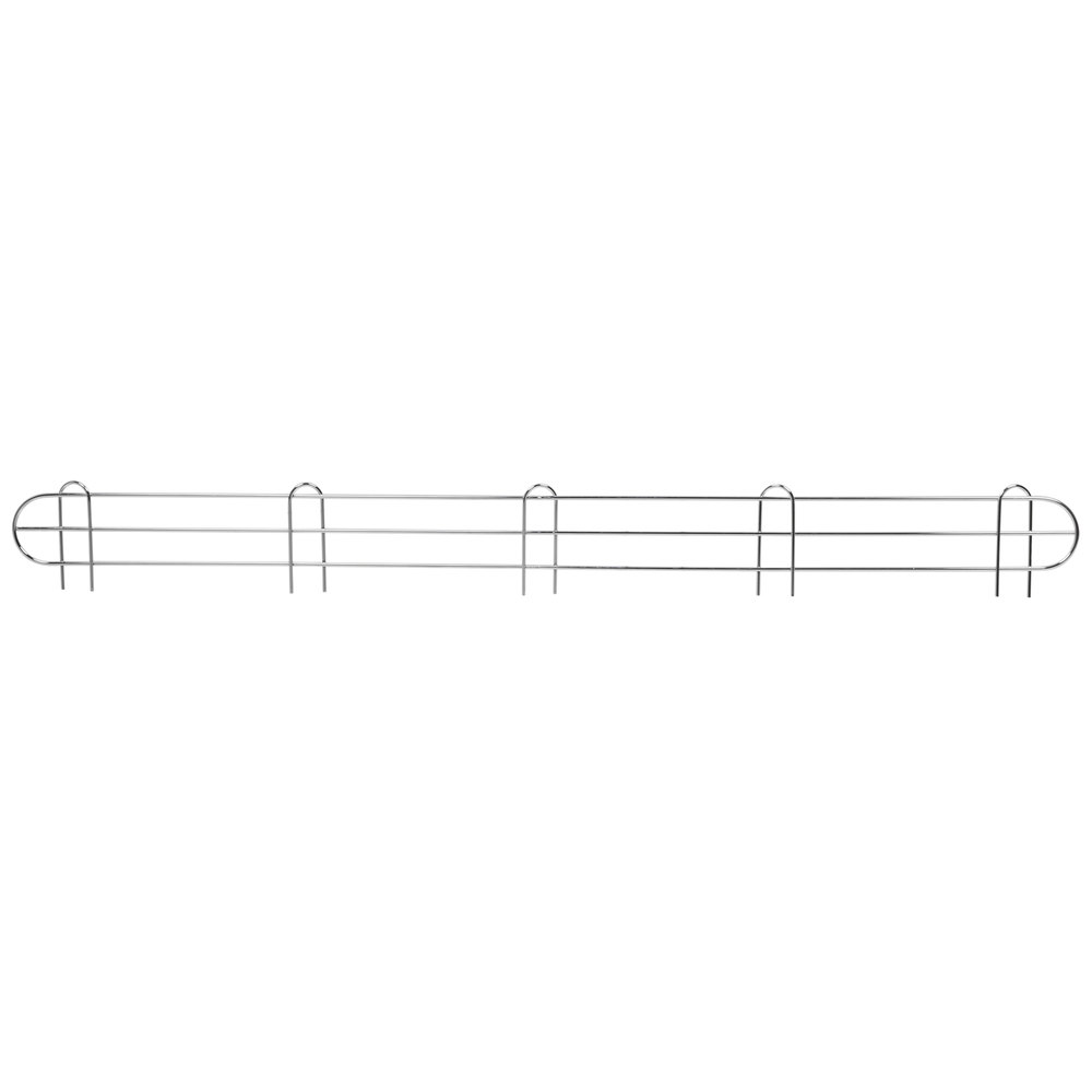 Regency 60 inch Chrome Wire Shelf Ledge for Wire Shelving - 60 inch x 4 inch