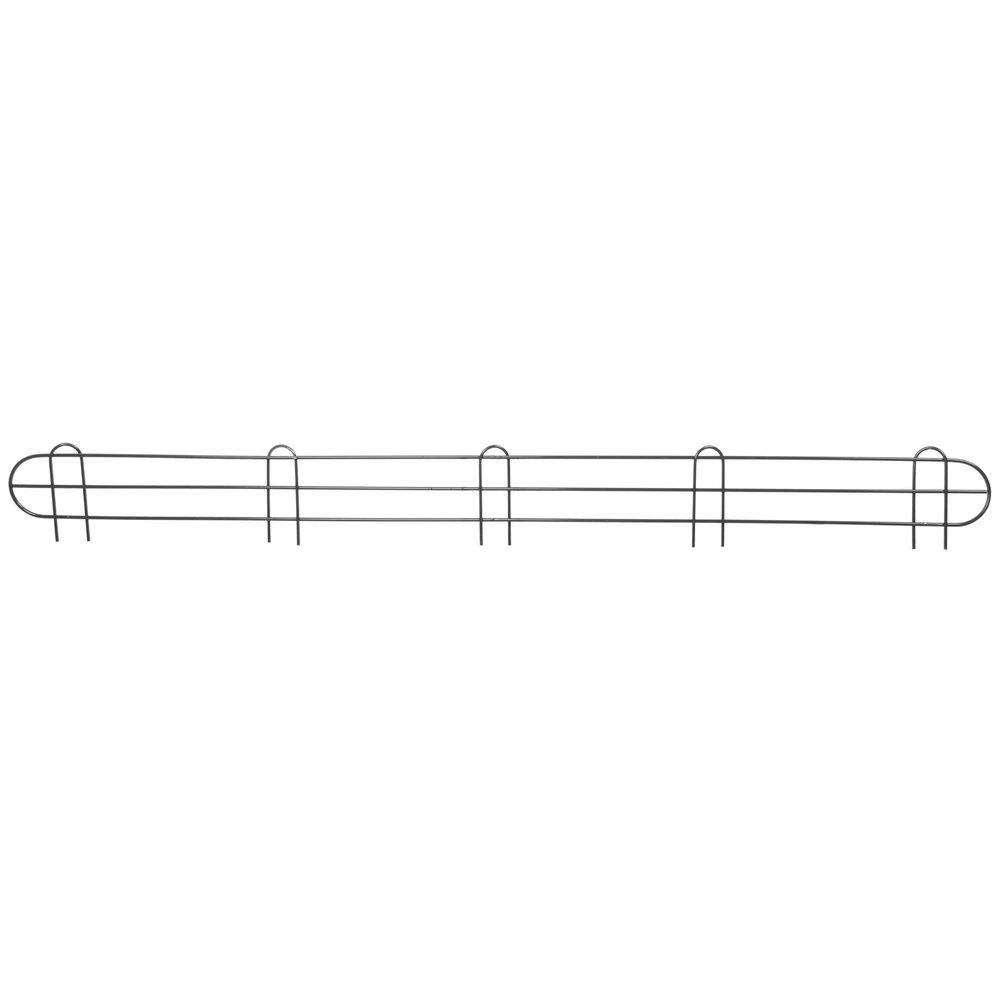 Regency 60 inch Black Epoxy Wire Shelf Ledge for Wire Shelving - 60 inch x 4 inch