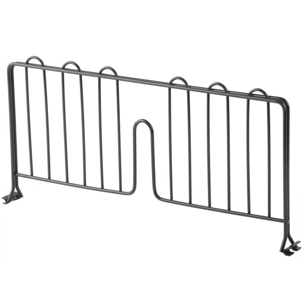 Regency 18 inch Black Epoxy Wire Shelf Divider for Wire Shelving - 18 inch x 8 inch