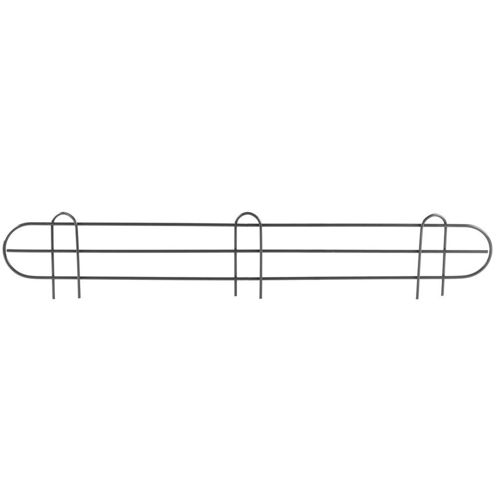 Regency 36 inch Black Epoxy Wire Shelf Ledge for Wire Shelving - 36 inch x 4 inch