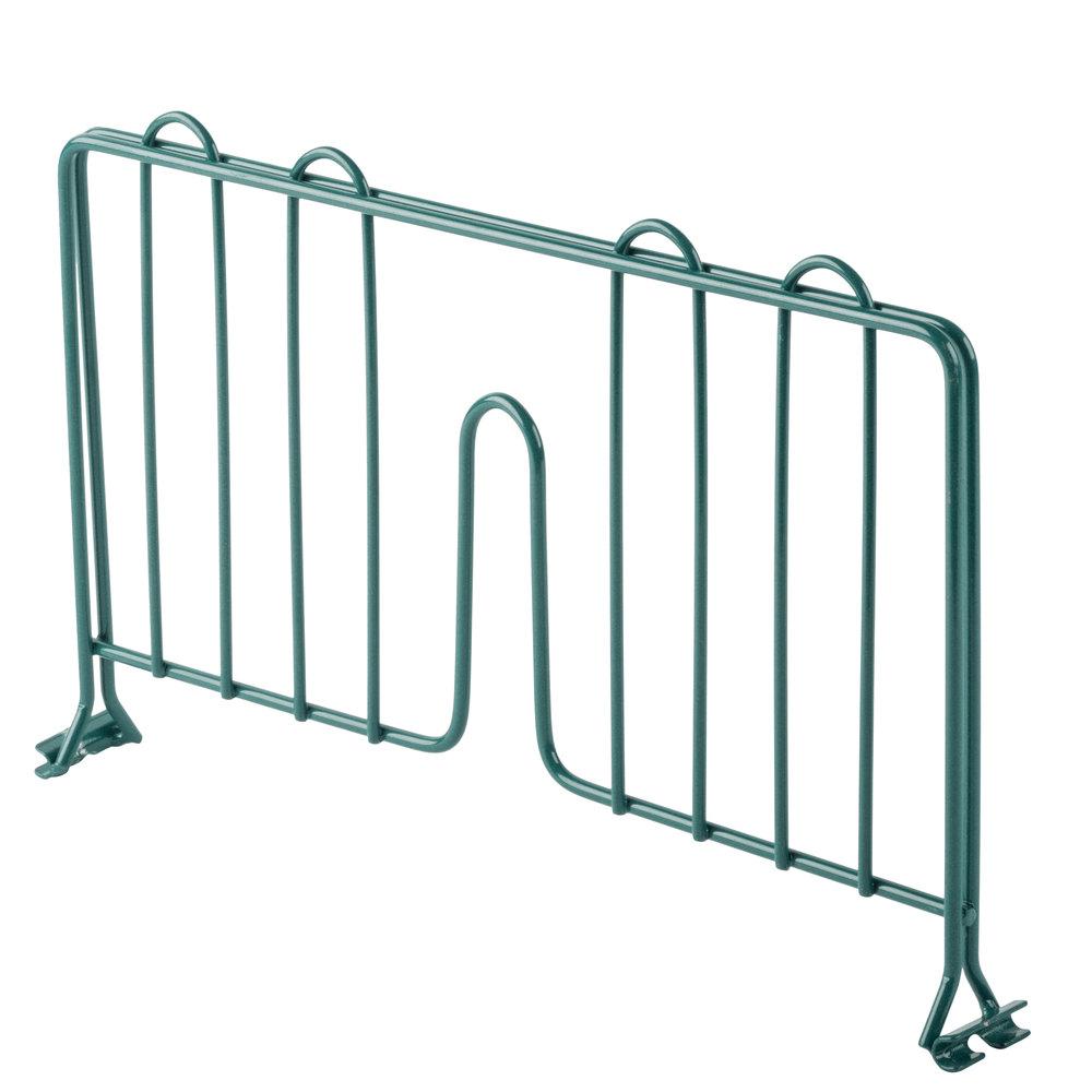 Regency 14 inch Green Epoxy Wire Shelf Divider for Wire Shelving - 14 inch x 8 inch