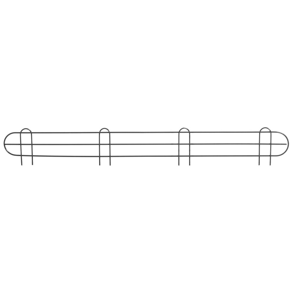 Regency 48 inch Black Epoxy Wire Shelf Ledge for Wire Shelving - 48 inch x 4 inch