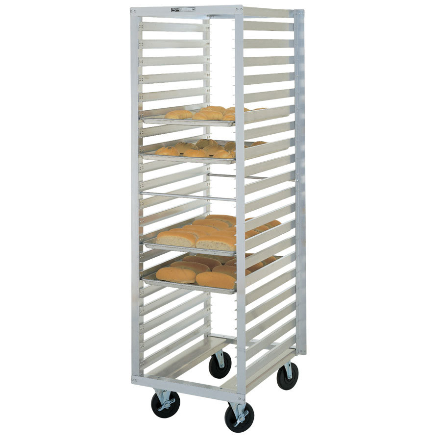Metro RF23N Mobile Roll-In Refrigerator End Load Bun Pan Rack - 11 Pan