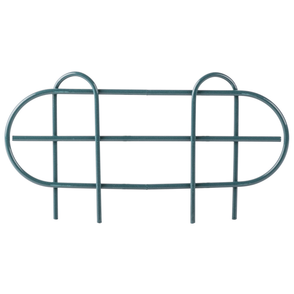Regency 14 inch Green Epoxy Wire Shelf Ledge for Wire Shelving - 11 1/2 inch x 4 inch
