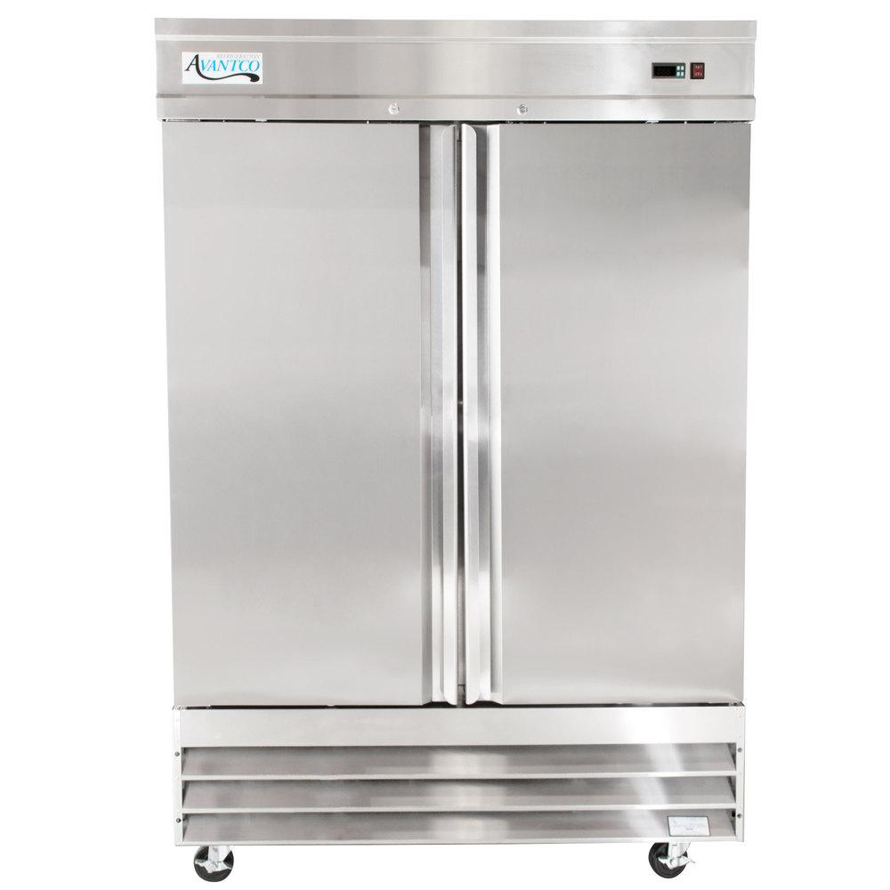 Avantco Cfd 2ff 54 Two Section Solid Door Reach In Freezer Wiring Diagram Freezerless Refrigerator