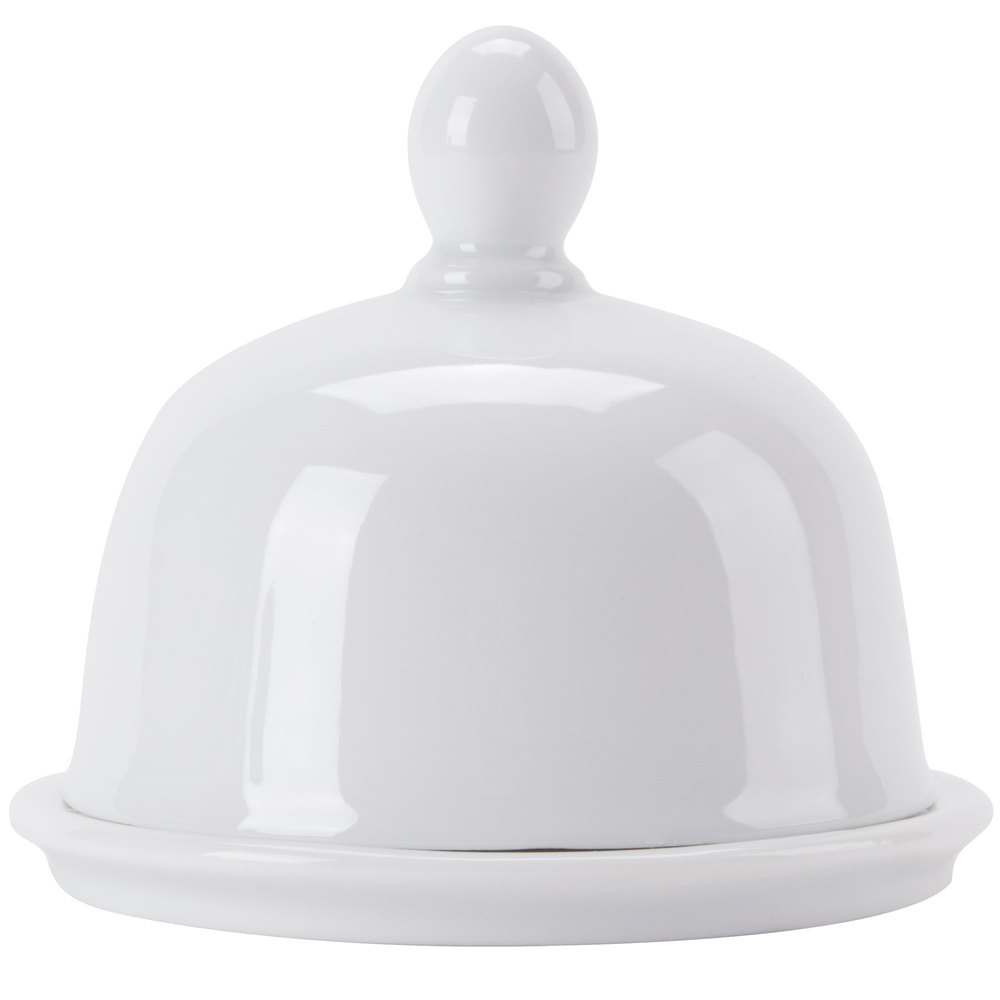 Cac But 1 Gourmet 1 Oz Bright White Porcelain Butter Dish