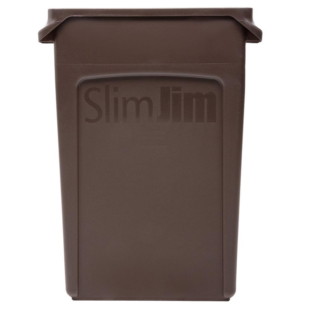 slim jim brown trash can main picture