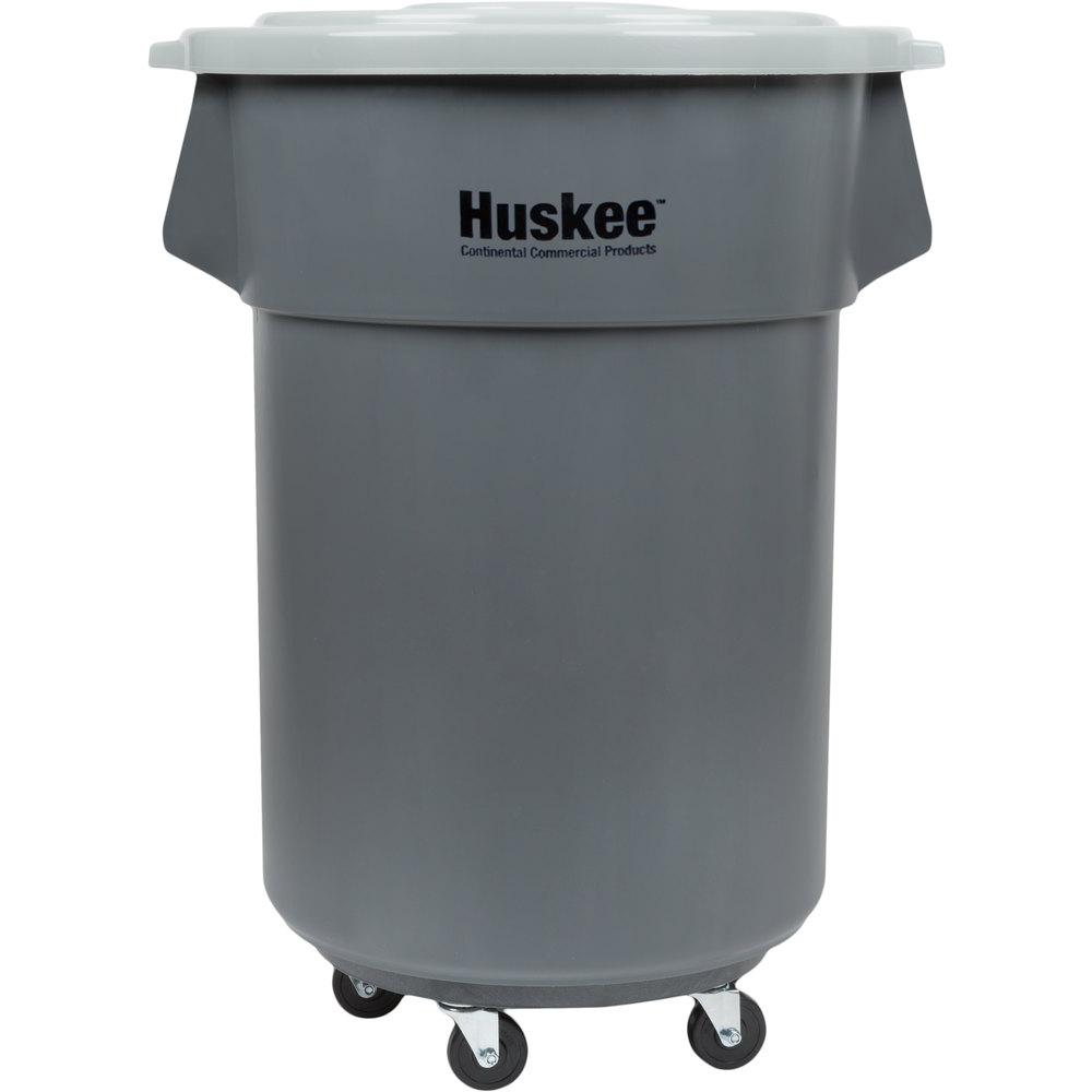 Continental 27455tcgykit 55 Gallon Gray Trash Can Lid