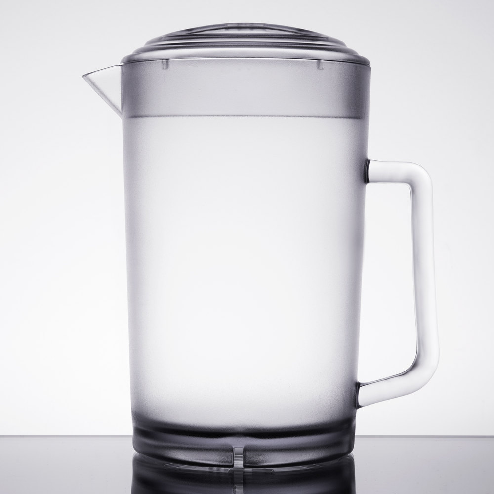 get pcl  oz clear textured pitcher with lid - clear textured pitcher with lid main picture