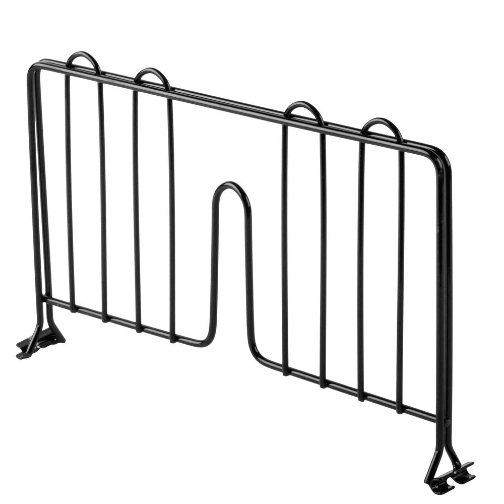 Regency 14 inch Black Epoxy Wire Shelf Divider for Wire Shelving - 14 inch x 8 inch